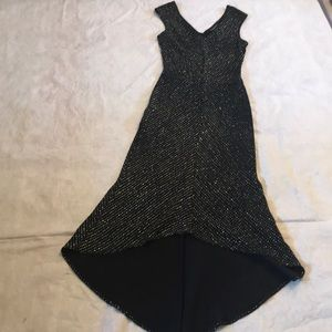 Bebe Black Glittery Long Dress sz M
